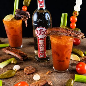 360 KC Barbeque Bloody Mary cocktail